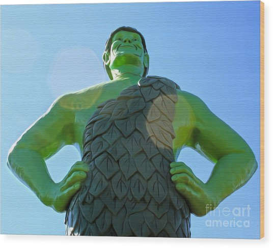 Jolly Green Giant - 02 Wood Print