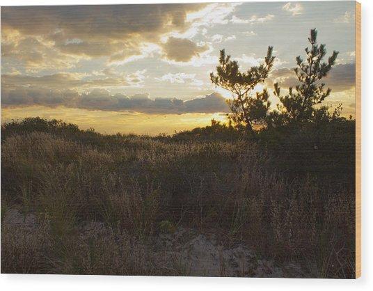 Jones Beach Sunset Four Wood Print