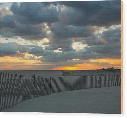 Jones Beach Sunset Three Wood Print