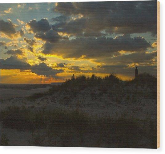 Jones Beach Sunset Two Wood Print