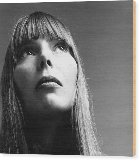 Joni Mitchell Wood Print
