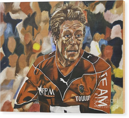 Jonny Wilkinson Wood Print