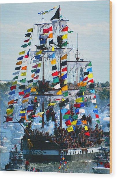 Jose Gasparilla Ship Work B Wood Print