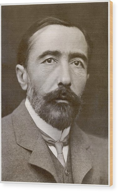 Joseph Conrad  Polish-born Writer Wood Print by Mary Evans Picture Library