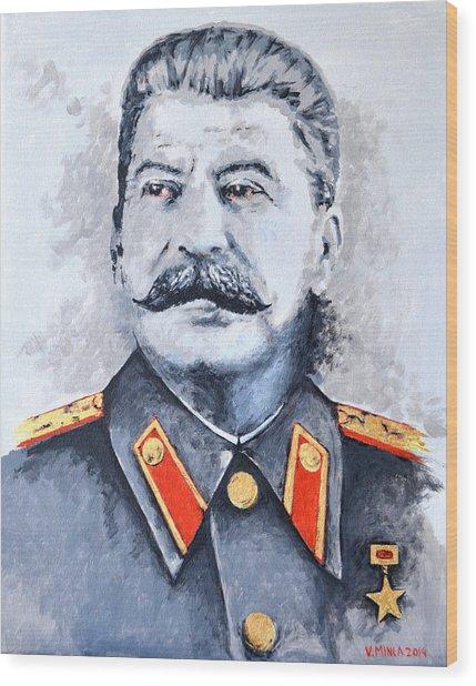 Joseph Stalin Wood Print
