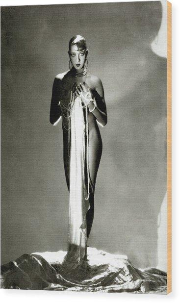 Josephine Baker Wood Print