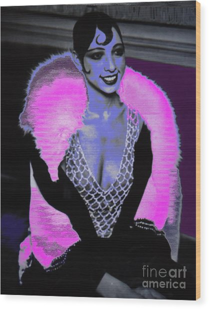 Josephine Baker The Original Flapper Wood Print