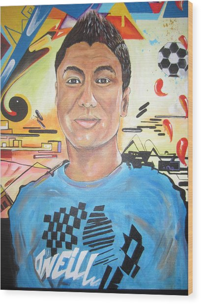 Josias 1991-2012 Wood Print by Erik Franco