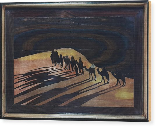 Journey To Holy Land Wood Print