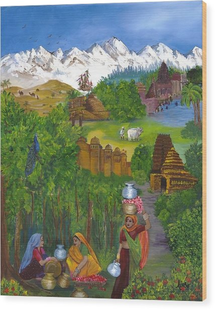 Journey Home Wood Print