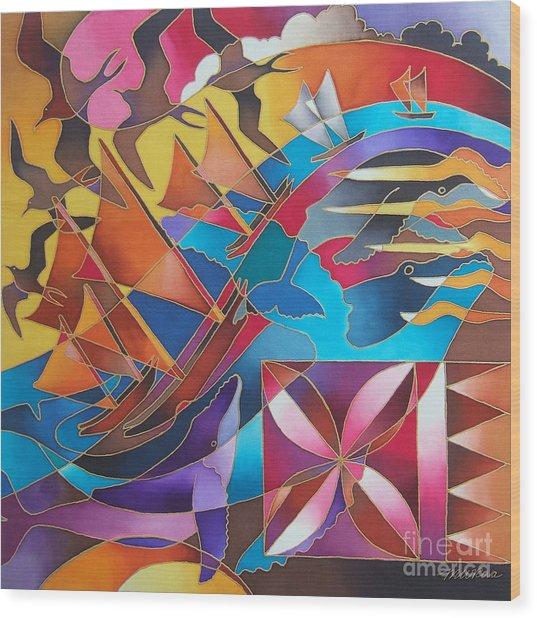 Journey Of The Vaka II Wood Print