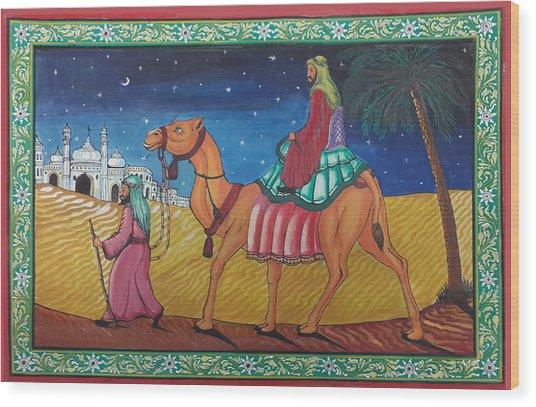 Journey Through Desert Wood Print
