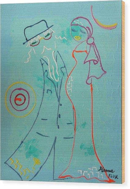 Joy Wood Print by Hanna Fluk