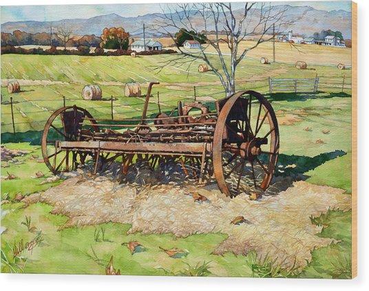 Joy Of Rust Wood Print
