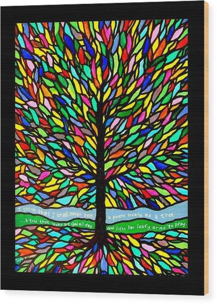 Joyce Kilmer's Tree Wood Print