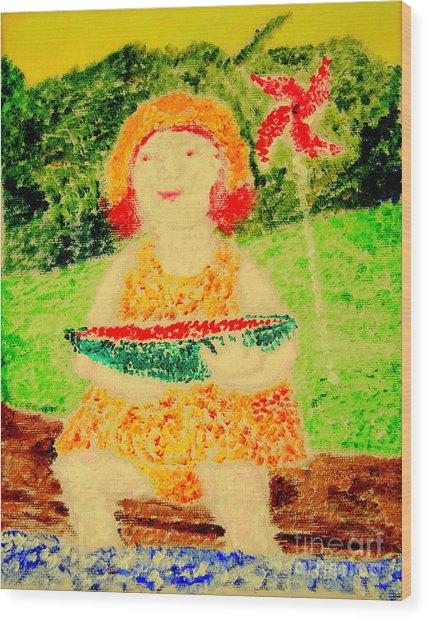 Joyful Summer 1 Wood Print