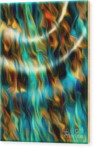 Joyful Waves - Abstract Art By Giada Rossi Wood Print