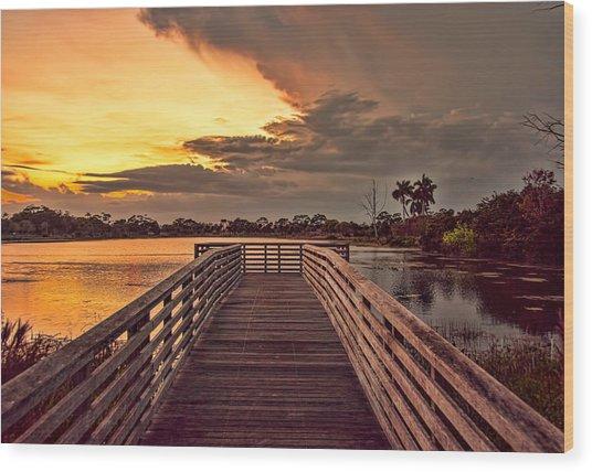 Jpp Sunset Wood Print