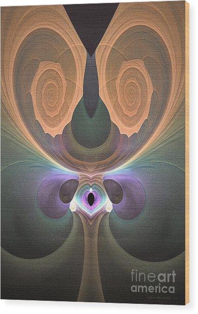 Jubilation - Surrealism Wood Print by Sipo Liimatainen