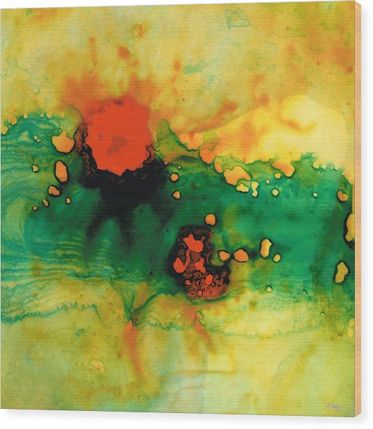 Jubilee - Abstract Art By Sharon Cummings Wood Print