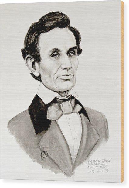 Judge Lincoln 1858 Wood Print