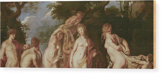 Judgement Of Paris Wood Print