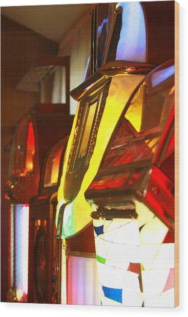 Jukebox Wood Print by Jose Rodriguez