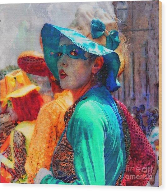 Julia At The Parade Wood Print