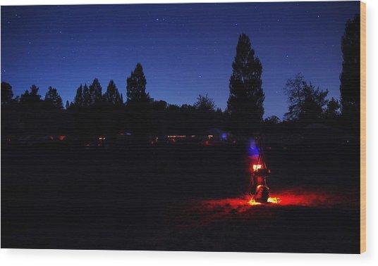 Julian Night Lights 2013 Wood Print