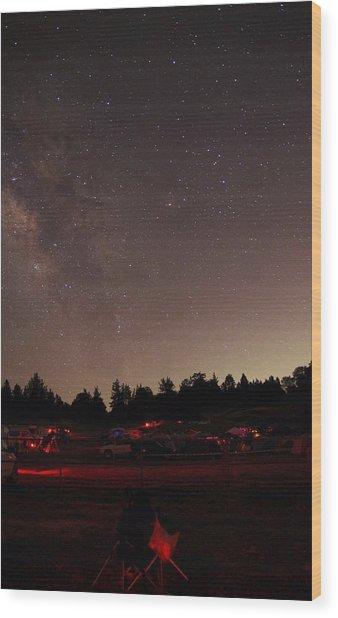 Julian Night Sky Milky Way Wood Print