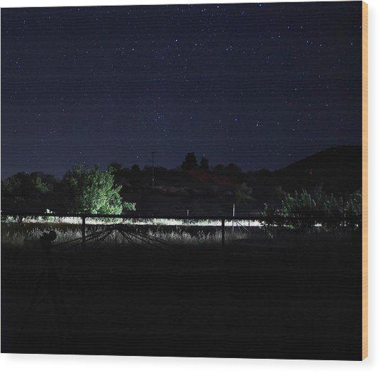 Julian Night Sky Wood Print