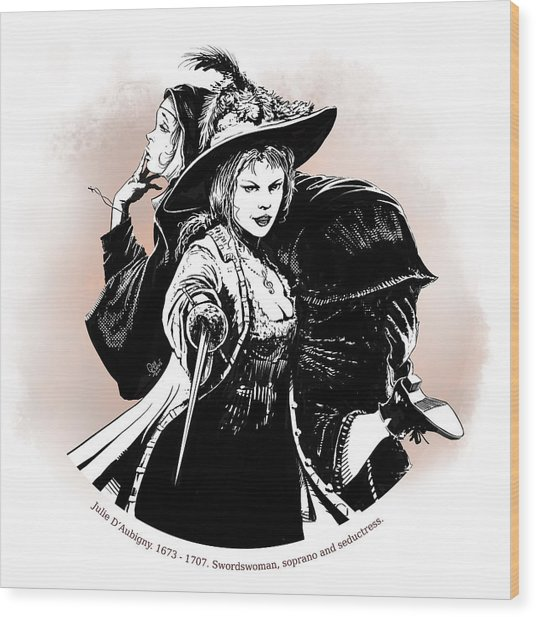 Julie D' Aubigny Wood Print