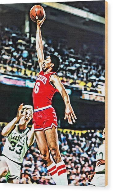 Julius Erving Wood Print