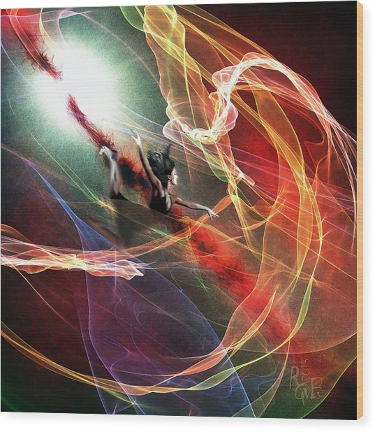 Jump Into Life Wood Print by Reno Graf von Buckenberg