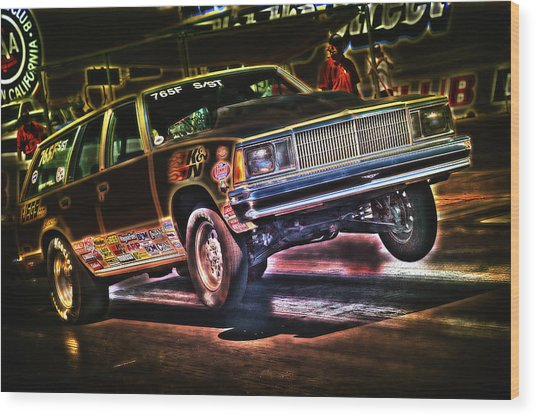Jumping Chevelle Wood Print