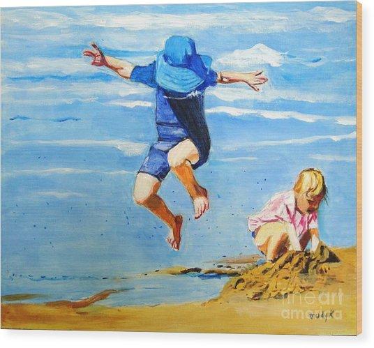 Jump'n Jack And Jill Wood Print