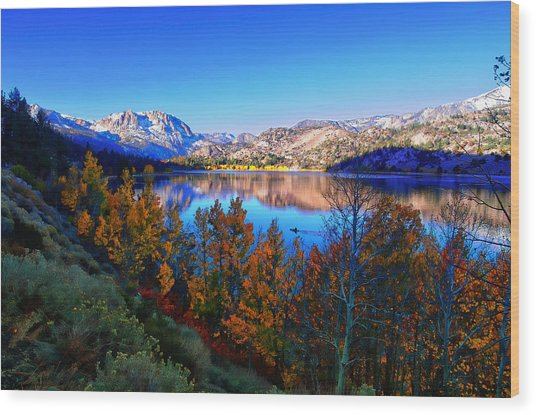 June Lake California Sunrise Wood Print