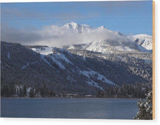 June Lake Winter Wood Print