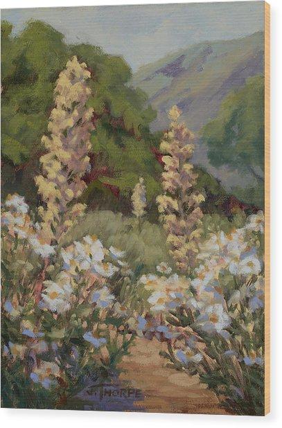 June Whites Wood Print