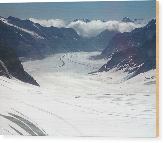 Jungfrau Glacier Wood Print