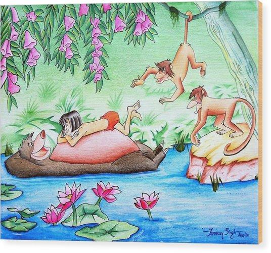 Jungle Book Wood Print by Tanmay Singh