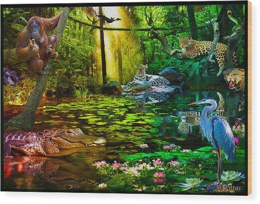 Jungle Dream 2 Wood Print