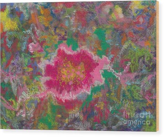 Jungle Flower Wood Print