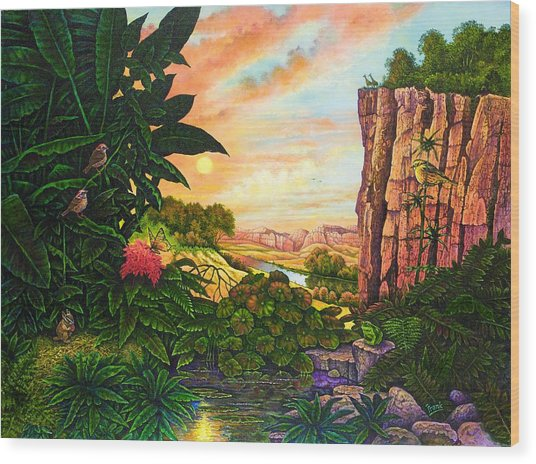 Jungle Harmony I Wood Print