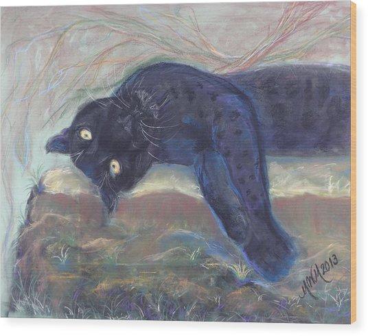 Jungle Kitty  Wood Print