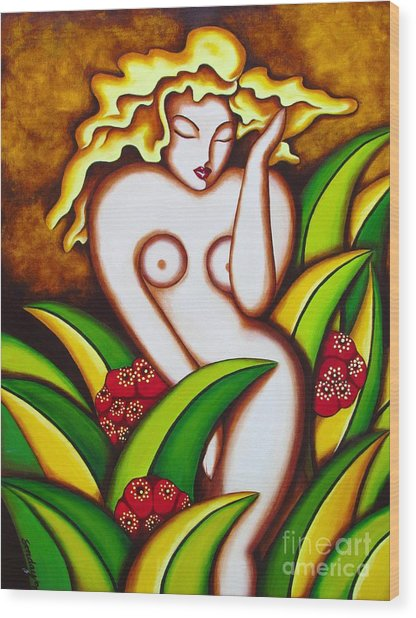 Jungle Nude Wood Print