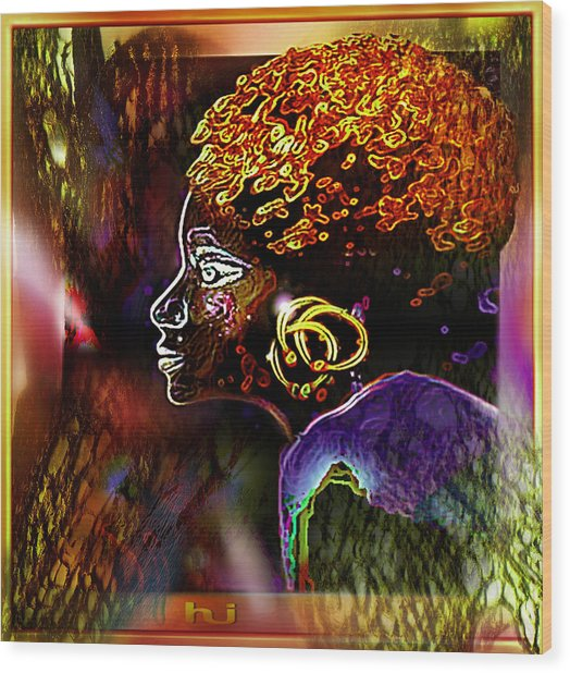 African   Princess Wood Print