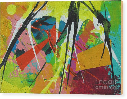 Jungle2 Wood Print