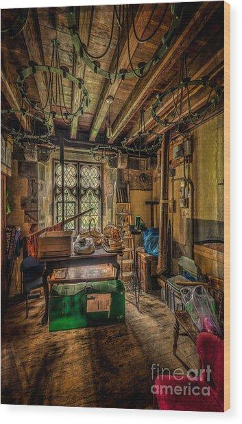 Junk Room Wood Print