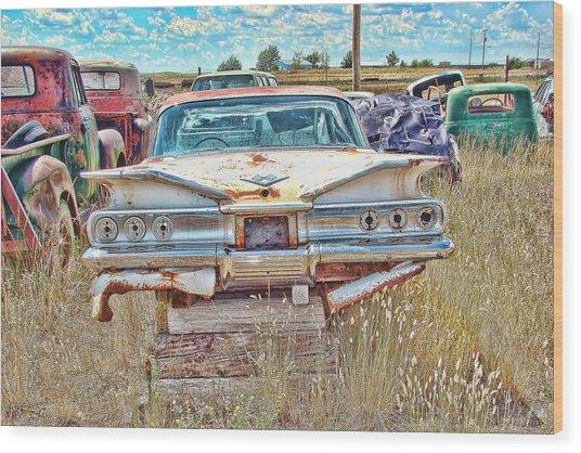 Junkyard Series 1960's Chevrolet Impala Wood Print